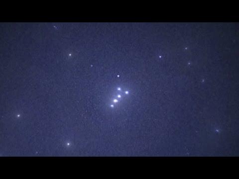 Amazing UFO Formation! Massive Night Vision UFO activity, July 2014