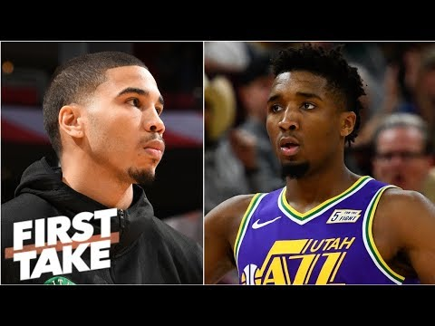 Is Jayson Tatum or Donovan Mitchell's second-year decline more concerning? | First Take