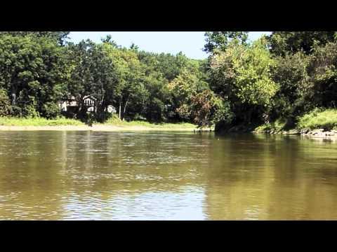 Kayaking the river