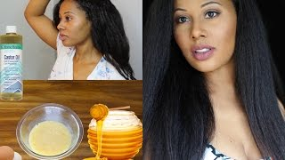 Instant Hair Growth Castor Oil and Honey Mask