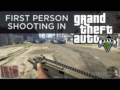 First Person Shooting in GTA V - PS4 Gameplay
