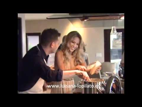 Luisana Lopilato and michael buble cooking to PeopleTv