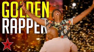 Original Rap Audition Get's GOLDEN BUZZER On America's Got Talent 2019! | Got Talent Global