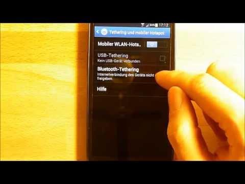 Tethering und mobiler Hotspot - das Samsung Galaxy S3 als Router / Wlan (WiFi) Modem nutzen