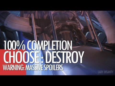 [MASS EFFECT 3] 100% Complete Ending - Destroy *SPOILERS*