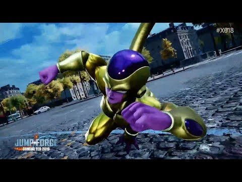 Jump Force Trailer Shows Super Saiyan Blue Goku and Golden Frieza - X018