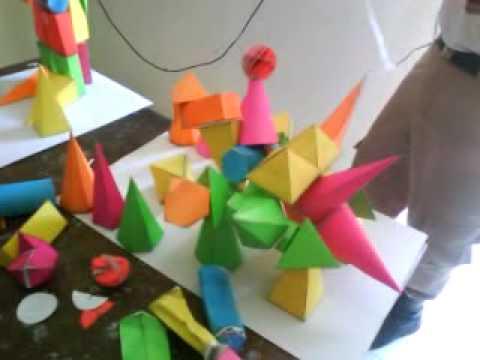 Como hacer un movil de figuras geometricas
