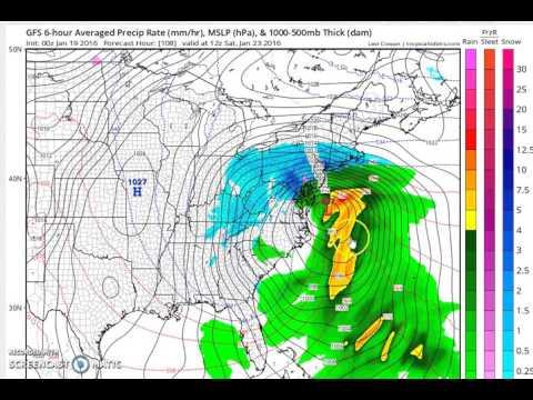Major Winter Storm For Mid Atlantic & Northeast Per GFS Model