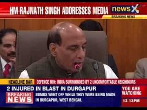 Home Minister Rajnath Singh addresses media