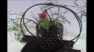 "Perfumada exposición ""Ikebana, arreglo floral japonés"" en el Centro Recreativo Xalapeño"