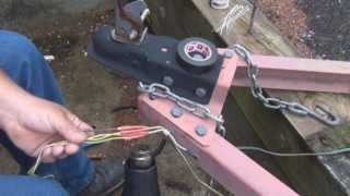 how to extend and or replace a trailer 4 pin connector
