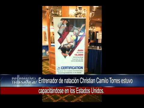 Entrenador de natación Christian Camilo Torres estuvo capacitándose en los Estados Unidos