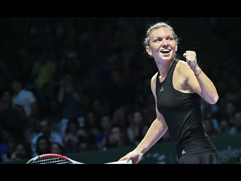 Simona Halep vs Agnieszka Radwanska | 2014 WTA Finals SF Highlights