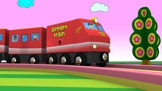 Trains - Cartoon Train - Toy Factory - Cartoon Cartoon - Trains for kids - Kids Videos for Kids -JCB