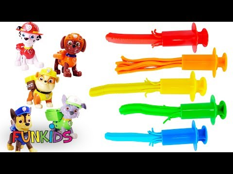 Learn Colors with Paw Patrol Play Doh Surprise