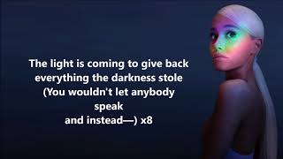 Download Lagu Ariana Grande - The Light is Coming (featuring Nicki Minaj) lyrics Gratis STAFABAND