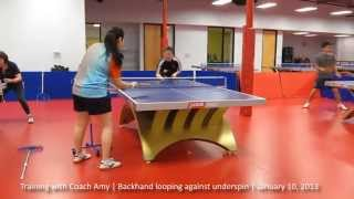 Training with Coach Amy: Backhand loop against underspin
