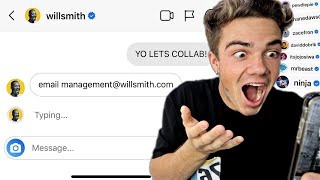 Asking 100 YouTube Celebrities To Collab... *It Worked*