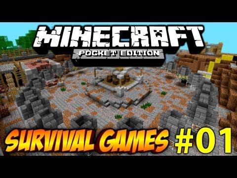 #01 Minecraft PE Survival Games [Deutsch/HD] - Deathmatch fast geschafft!