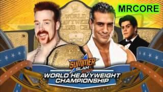 WWE Summerslam 2012 Match Card V4 HD