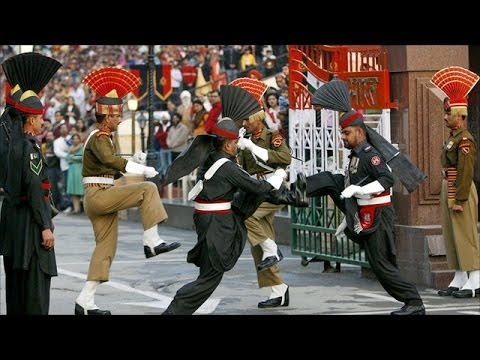 Great India-pakistan Wagah Border Retreating Parade video