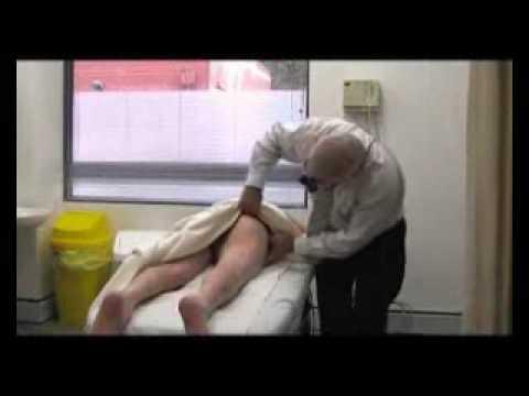 Disabled girl breast examination
