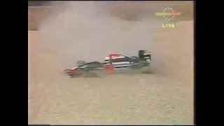 Gabriele Tarquini spins, 1992 Hungarian GP Qualifying