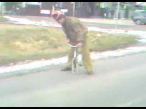 Drunk Russian bike fail