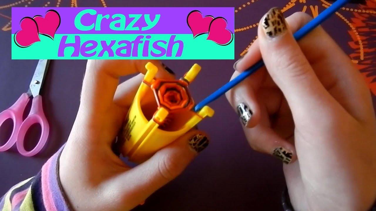 Comment faire fabriquer facilement un bracelet crazy hexafish de crazy loom youtube - Comment faire les bracelet elastique ...