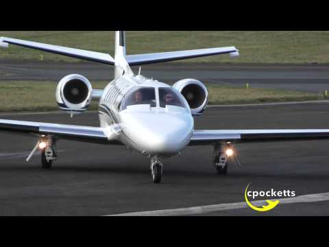 Cessna Citation 550 Bravo G-CGEI - Sunny Take Off - Gloucestershire Airport
