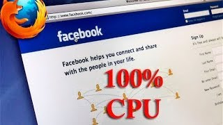 How to reduce facebook CPU usage in firefox