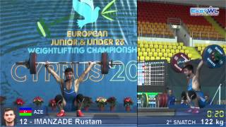 Rustem İmanzade. Junior EWC 2014. 122 kg snatch