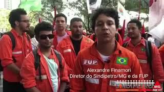 Ato no Rio contra a privatização da Petrobrás