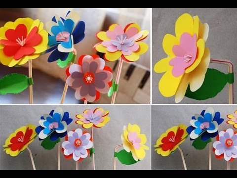DIY: Paper Flowers Super Easy DIY Paper Craft DianaTA - YouTube