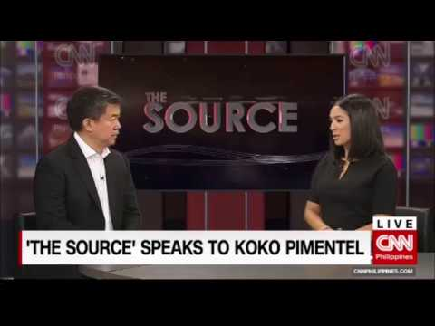 'The Source' speaks to Senator Koko Pimentel