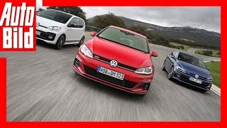 VW Golf GTI vs. Up GTI vs. Polo GTI (2018) Test/Vergleich/Review