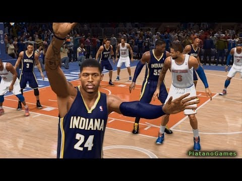 NBA Live 14 PS4 - Indiana Pacers vs New York Knicks - Halftime Highlights Show - HD
