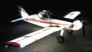 E-Flite Brave Night Flyer 1.2M BNF Basic RC Plane - First Night Flight