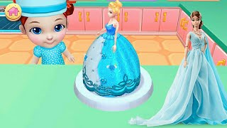 BARBIE CAKE MAKING GAMES🎂birthday cake and flowers GAMES🎂BARBIE DOLL CAKE CHILDREN'S CAKES