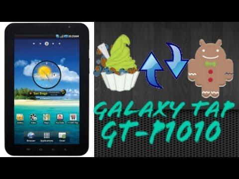 Actualizar Galaxy Tab GT-P1010 De Android 2.2.1 A 2.3.6