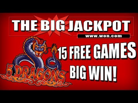 🔥 15 FREE GAME$ 🔥 5 DRAGONS BONUS ROUND JACKPOT! | The Big Jackpot