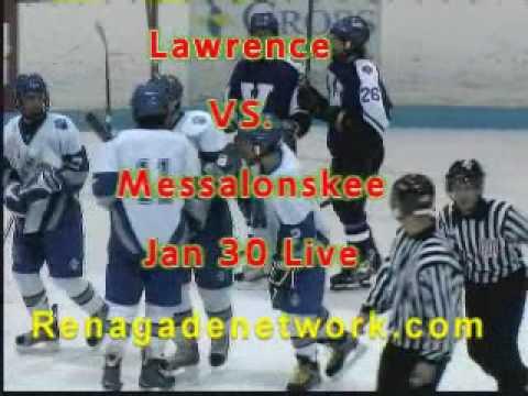 Lawrence vs Messalonskee high school hockey