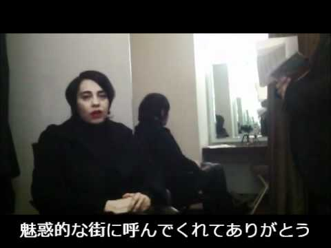 Amalia Grè videomessaggio da Tokyo 2011