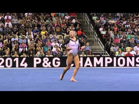 Kyla Ross - Floor - 2014 P&G Championships - Sr. Women Day 2