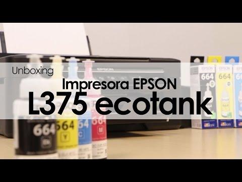 EPSON L375 Ecotank: unboxing y primeras impresiones