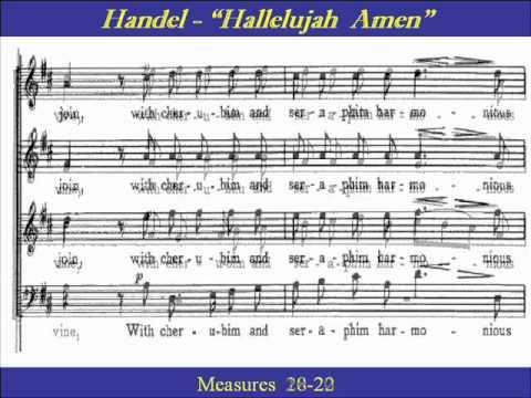 Handel Hallelujah Amen Tenor Score