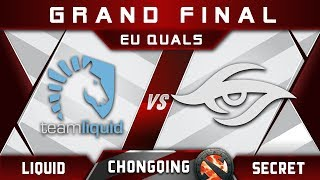 Liquid vs Secret EU Grand Final Chongqing Major 2018 Highlights Dota 2