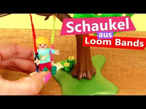 Playmobil Klettergerüst : Playmobil diy spielplatz schaukel aus loom bands idee für