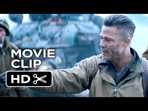Fury Official Movie Clip - I Can't Do It (2014) - Brad Pitt War Movie HD
