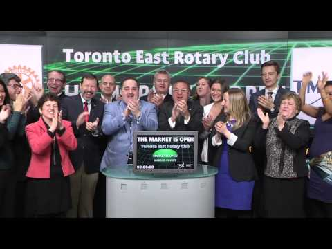 Toronto East Rotary Club opens Toronto Stock Exchange, March 18, 2015